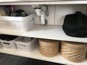 Ordning badrumsskåp