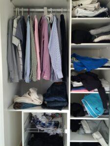 Rensa garderob (före)
