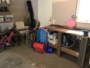 Vårstädning i garaget - före
