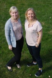 Sara Therén och Anna Hydén, professionell organisatör